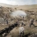 Placer mining operation at Russell Gulch, Colorado ca. 1865 (colorized)