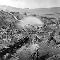 Placer mining operation at Russell Gulch, Colorado ca. 1865