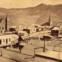 Episcopal, Catholic and Methodist Churches, Virginia City Nevada 1860s