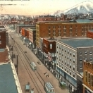 Butte Montana Postcard Illustration