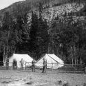 Happy Valley Placer Co. mining camp near Eldora 1892