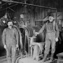 Hoist operators at the Gold Hill Mine - Quartzburg, Idaho