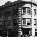 Construction crew in front of Nixon Block - Goldfield Nevada 1905