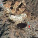 Satelite view shows Lowells location relative to the Lavendar open pit mine.