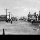 Nevada Street one week after the fire - Rawhide Nevada 1908