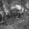 Camp in Sawyers Bar area ca1910