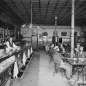 Interior view of Louie Wolfes saloon, Silver Cliff ca. 1900
