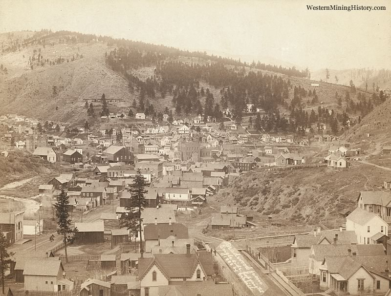 View of Deadwood in 1888