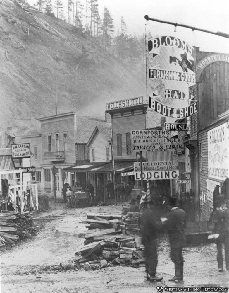 Lee Street in Deadwood 1877