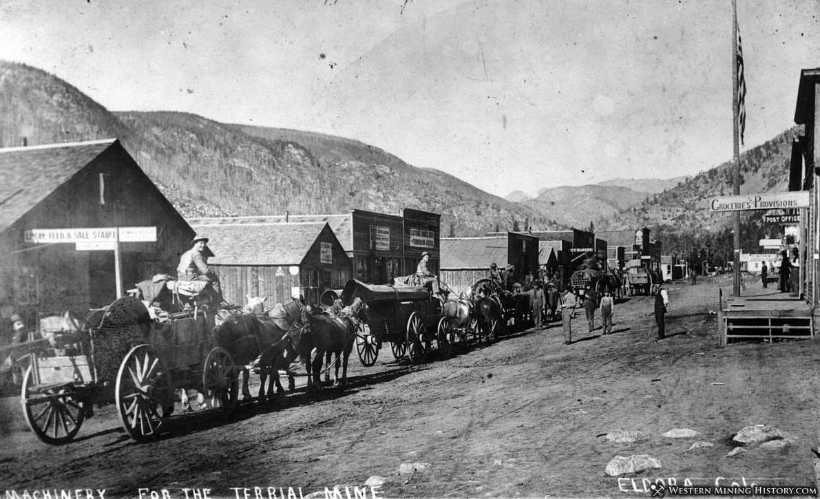 Mining Equipment Being Freighted in Eldora, Colorado