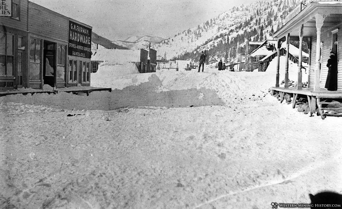 Eldora Colorado after the big snow of February 1899