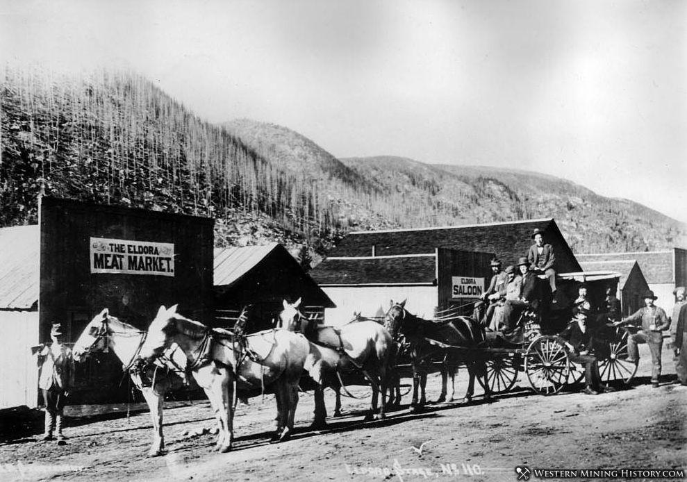Eldora Stage - Eldora Colorado ca. 1899