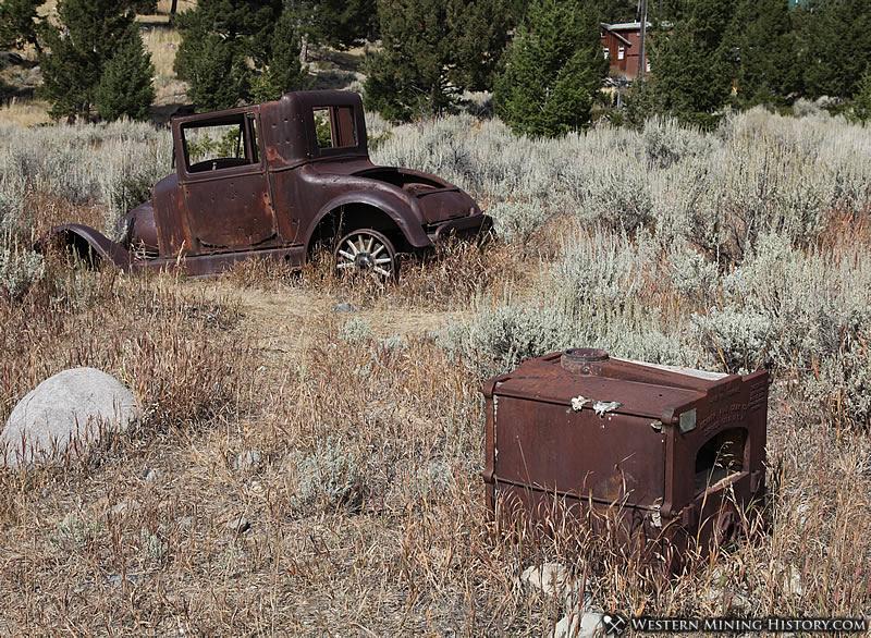 Antique car at Elkhorn Montana