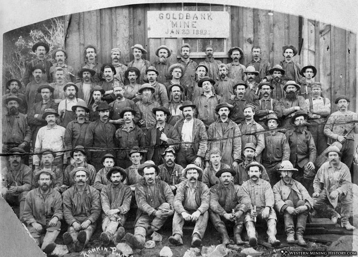 Miners at the Goldbank Mine - Forbestown California