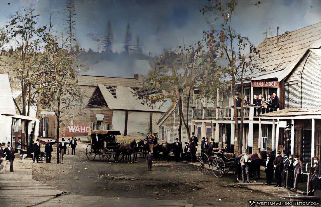 Forbestown, California ca. 1860 - enhanced image