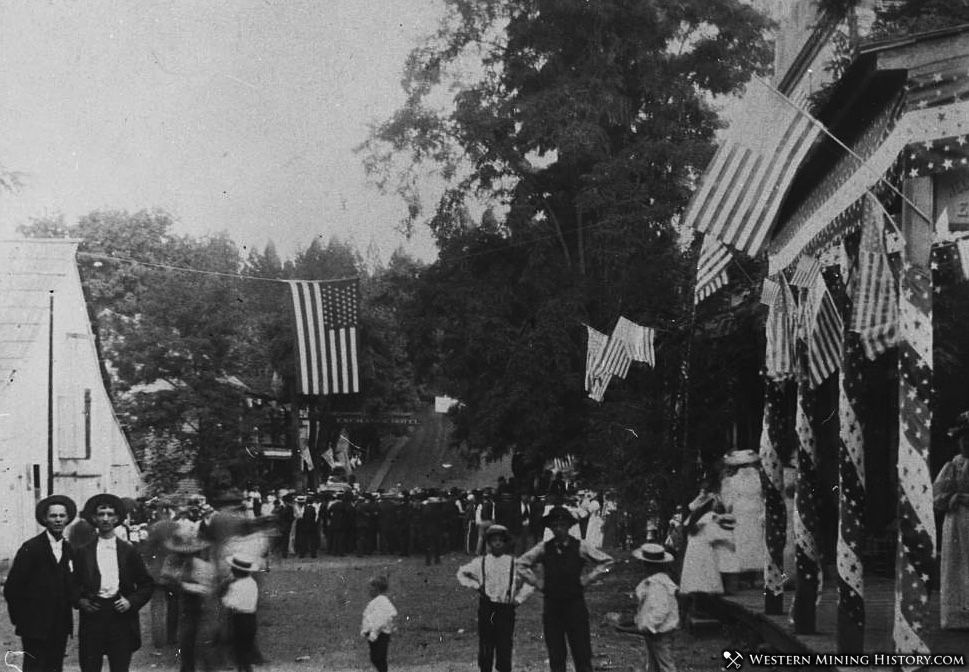 Celebration in Forbestown California ca. 1890