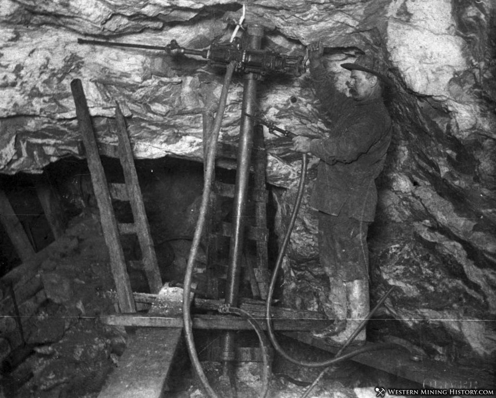 Miner Drilling in the Gold Bank Mine