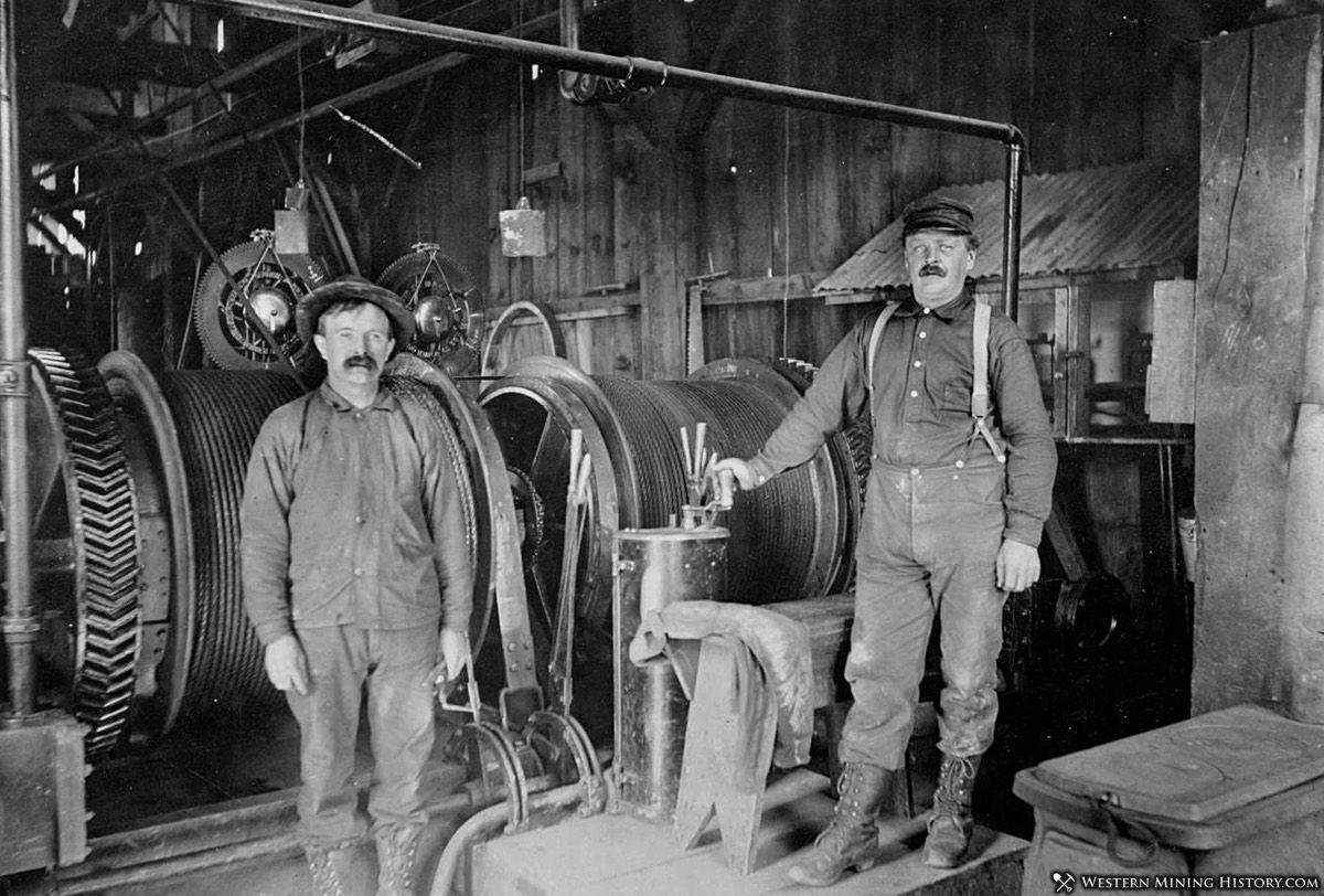 Hoist operators at the Gold Hill Mine - Quartzburg Idaho