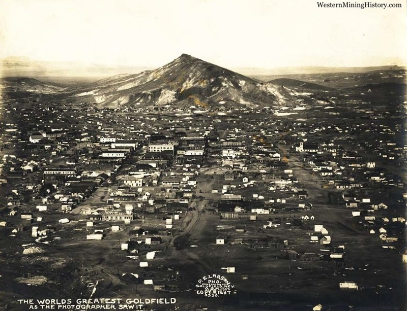 View of Goldfield Nevada in 1907