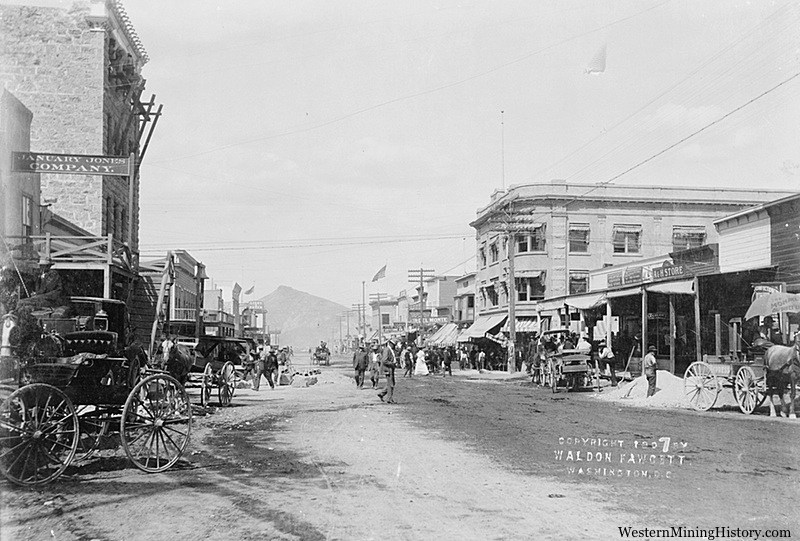Early street scene Goldfield Nevada
