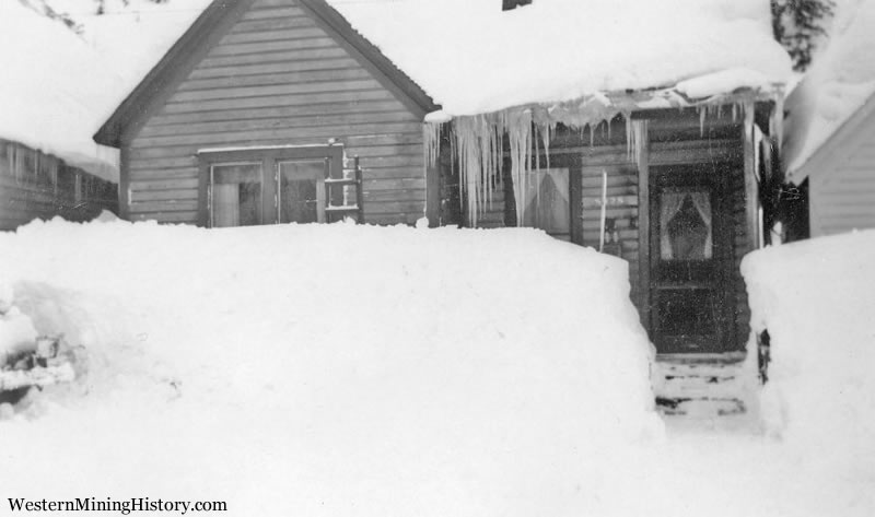 House Buried in Snow - Granite