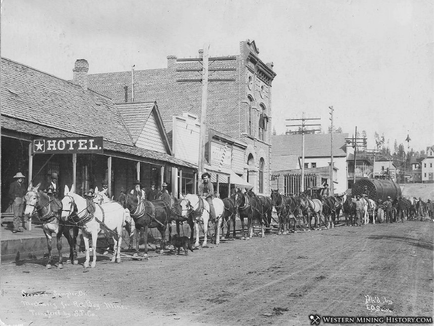 Granite Street Looking East - Sumpter, Oregon 1903
