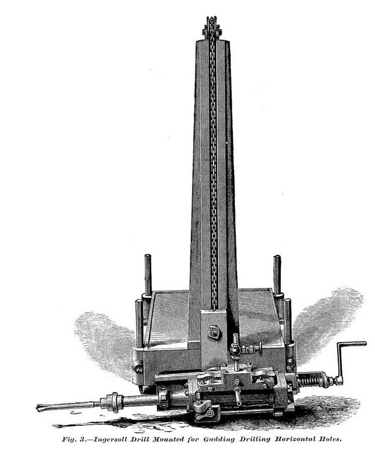 Ingersoll drilling machine