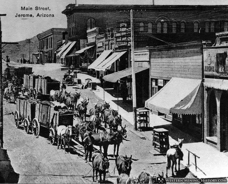 Jerome Arizona Street Scene 1895