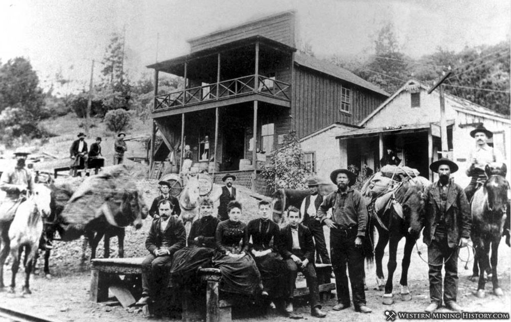Early view of Kennett California ca 1888