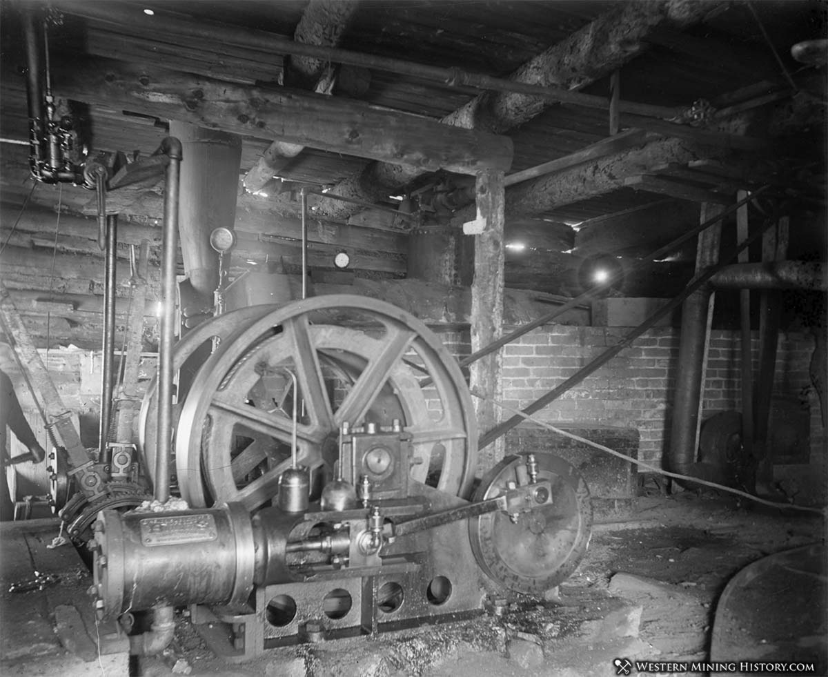 Hoist at the Wintergreen Mine