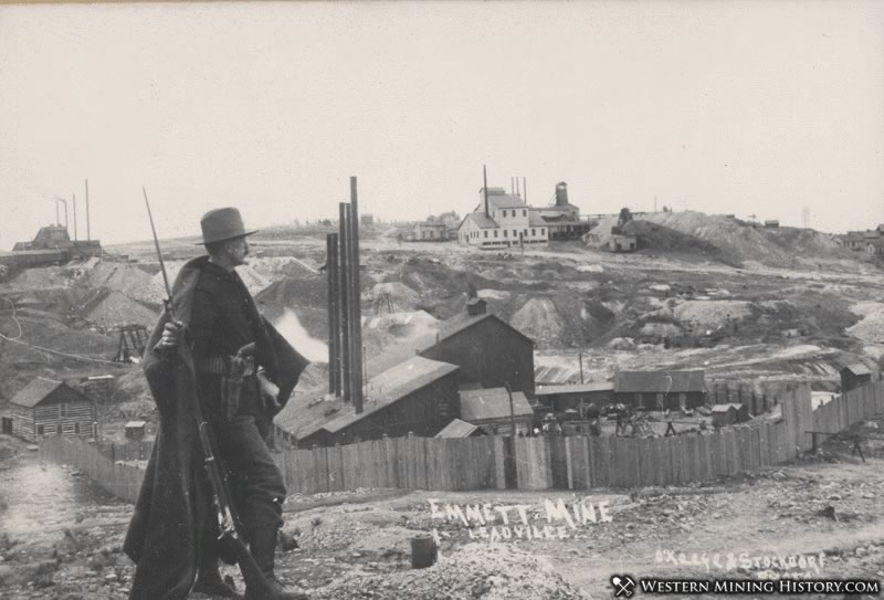 Colorado National Guardsman at the Emmett Mine 1896