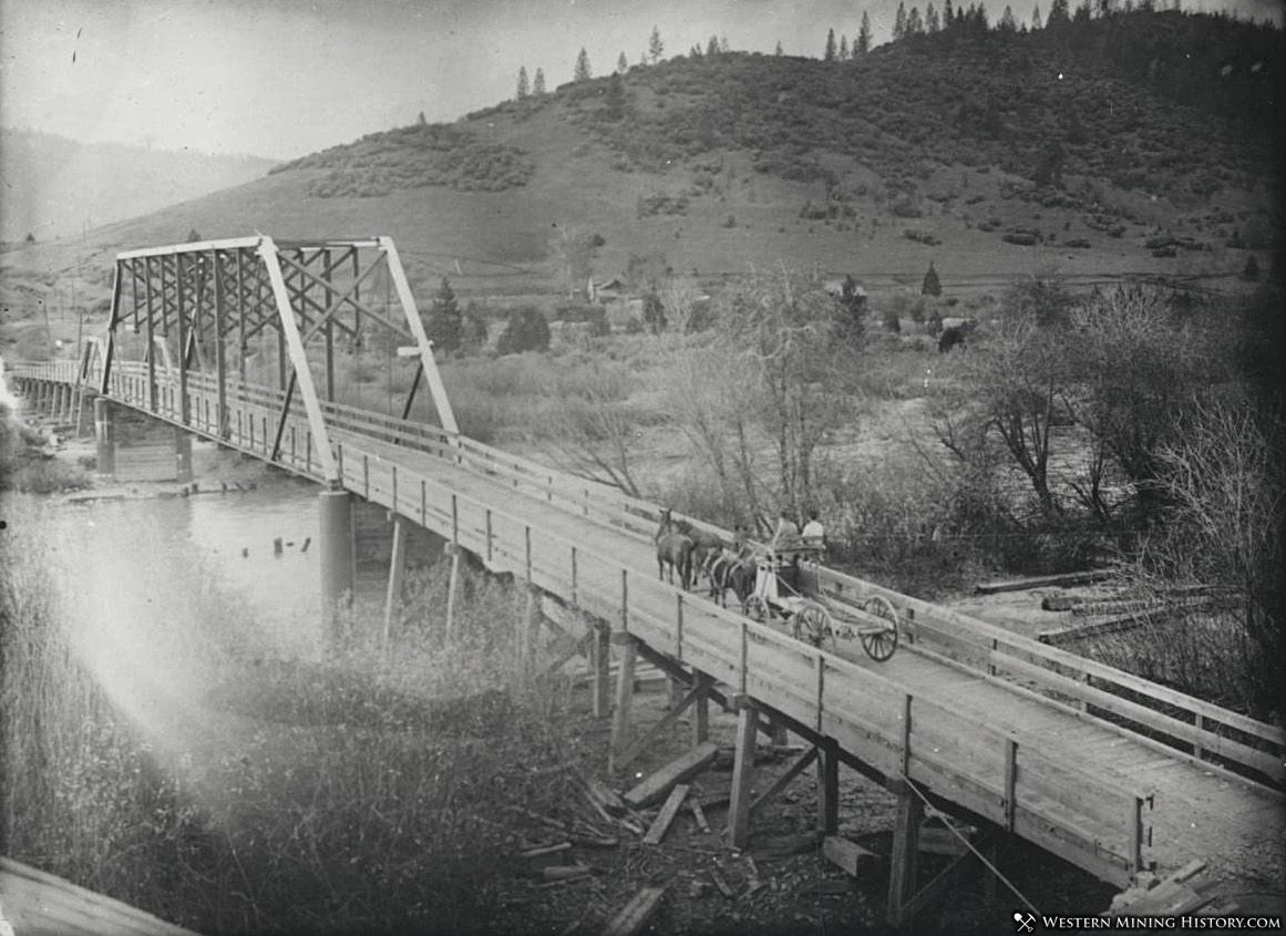 Bridge over the Trinity River at Lewiston, California ca1910