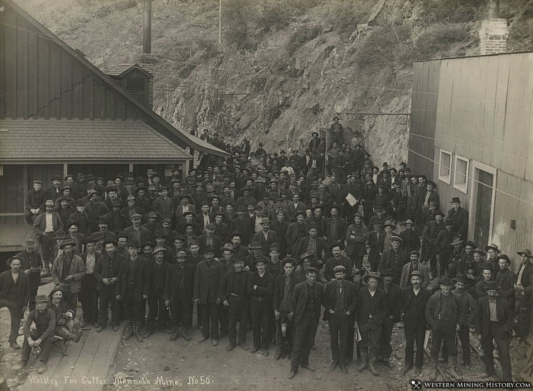 Waiting for Supper at the Mammoth Mine - Kennett, California ca. 1910.