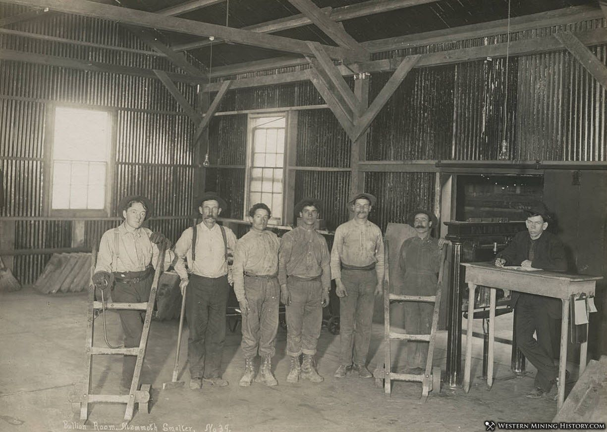 Mine Workers in Bullion Room at the Mammoth Smelter