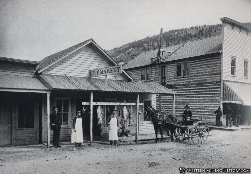 City Meat Market in Marysville, Montana 1889