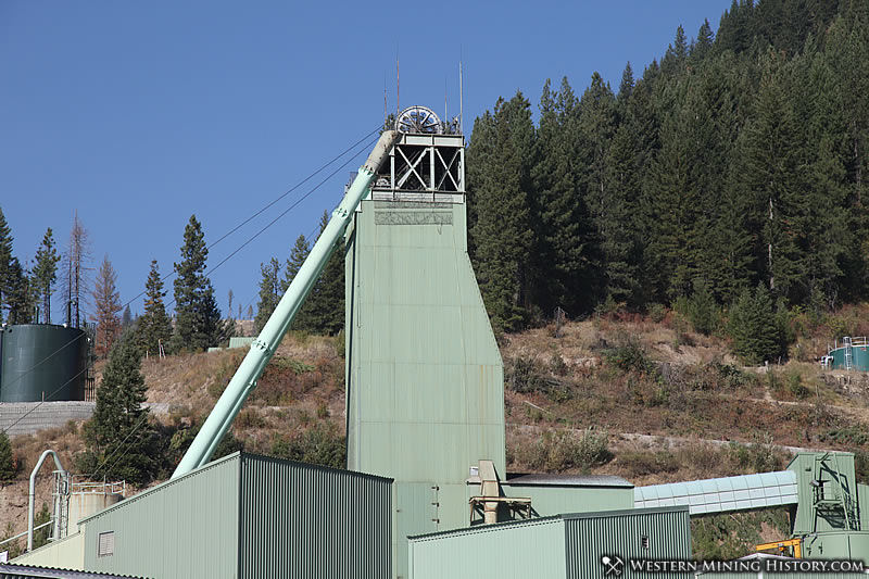 Headframe of the Lucky Friday Mine