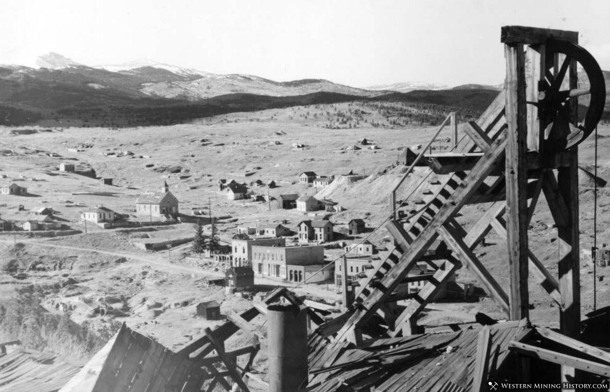 View of Nevadaville, Colorado from Quartz Hill