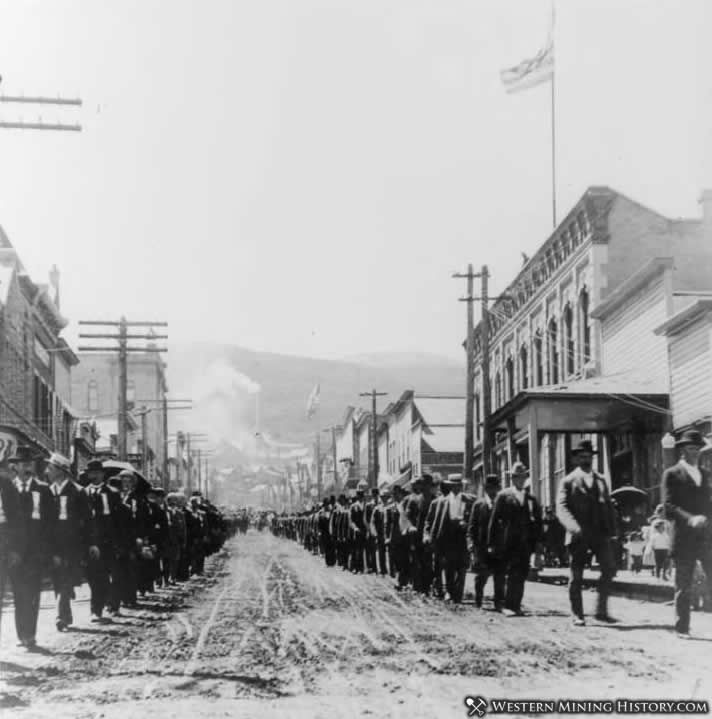 Miners Union Parade - Park City Utah 1890s