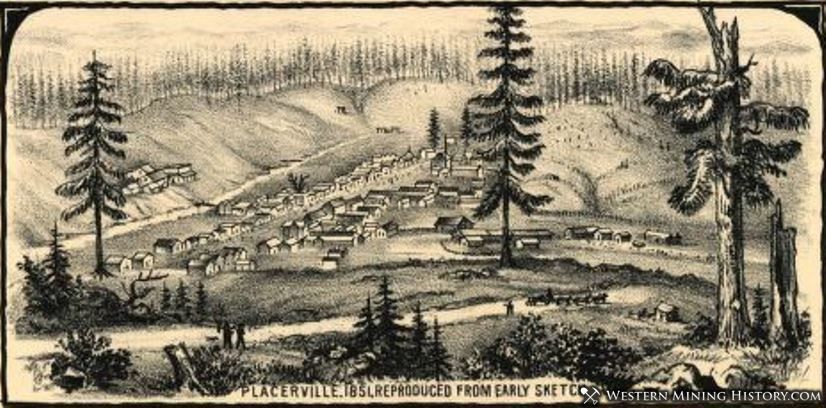 Illustration of Placerville in 1851
