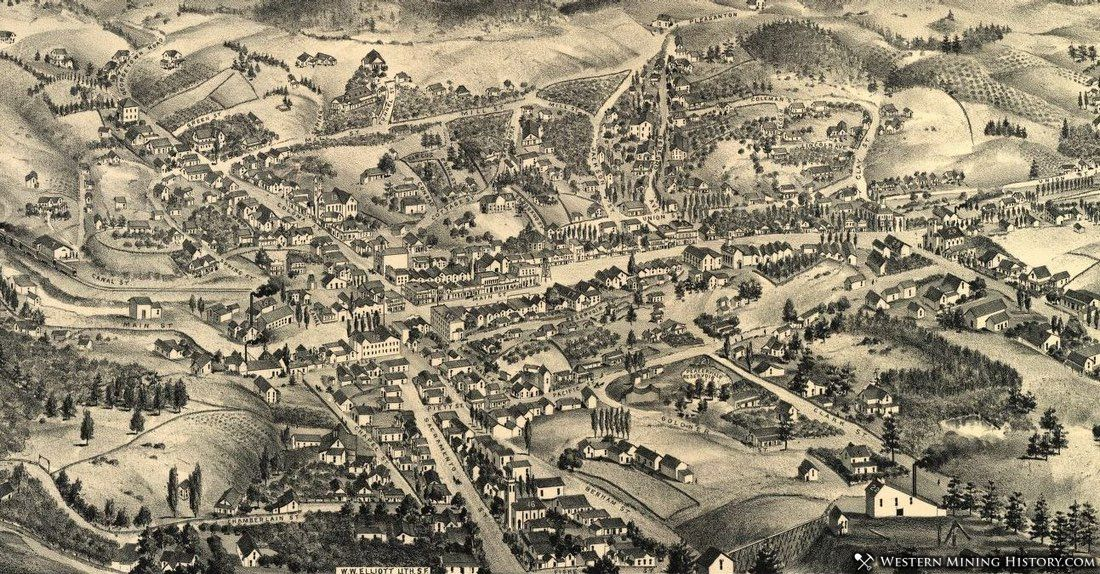 Illustration of Placerville in 1888