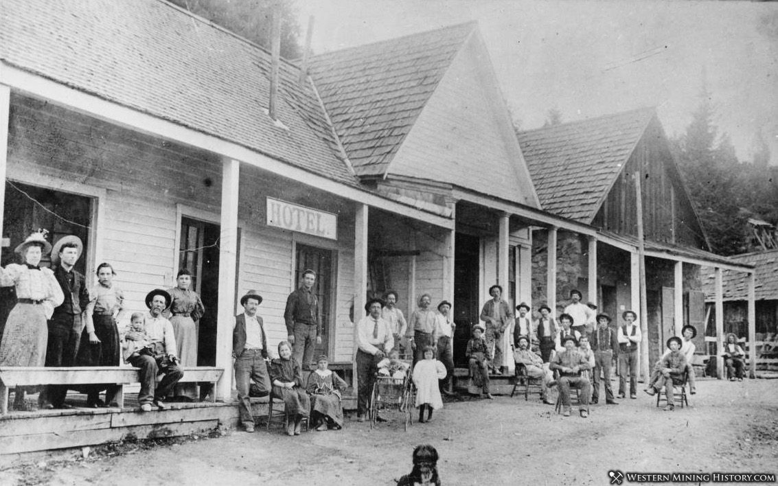 Daly Hotel - Quartzburg Idaho ca. 1890
