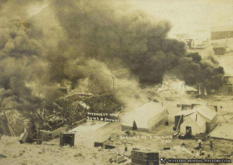 Devastating 1908 fire in Rawhide, Nevada