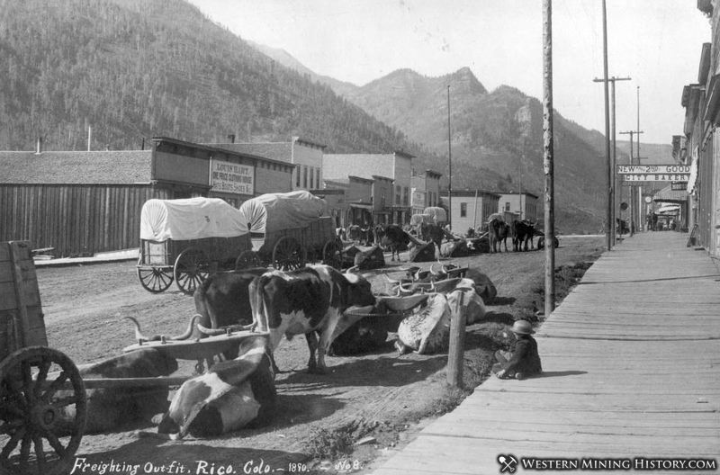 Freighting Outfit at Rico Colorado 1890