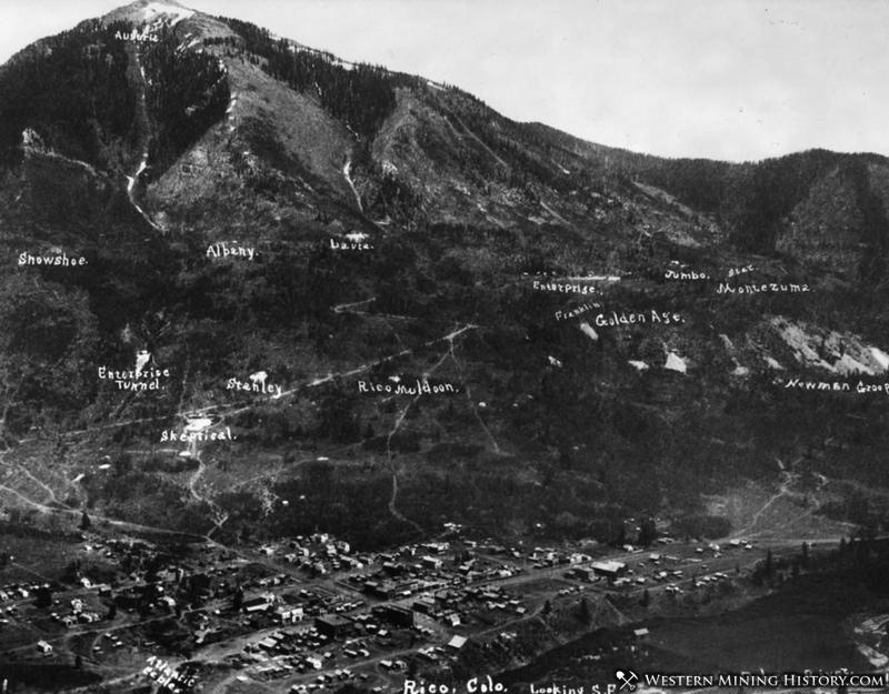 Mines Above Rico Colorado 1892