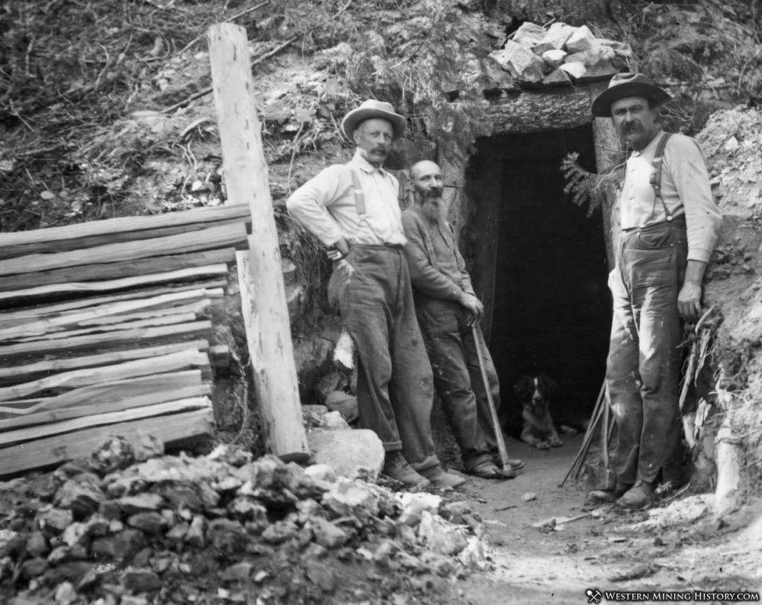 Men at a mine near Sawyers Bar