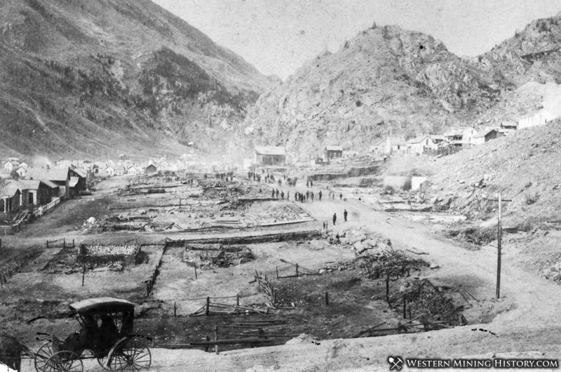 Silver Plume Colorado After Big Fire of 1884