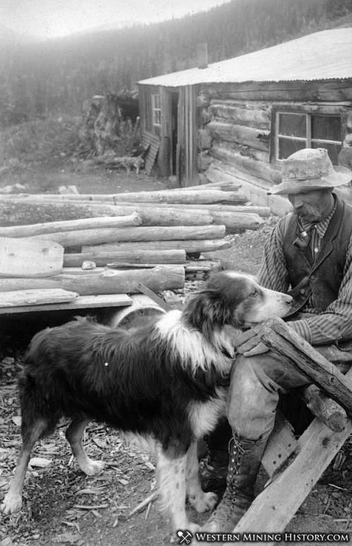 Miner and His Dog near Silver Plume, Colorado