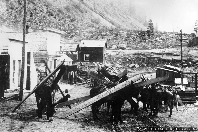Miners hauling lumber - Silver Plume, Colorado