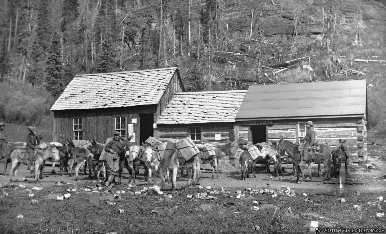 Sneffels post office and pack train