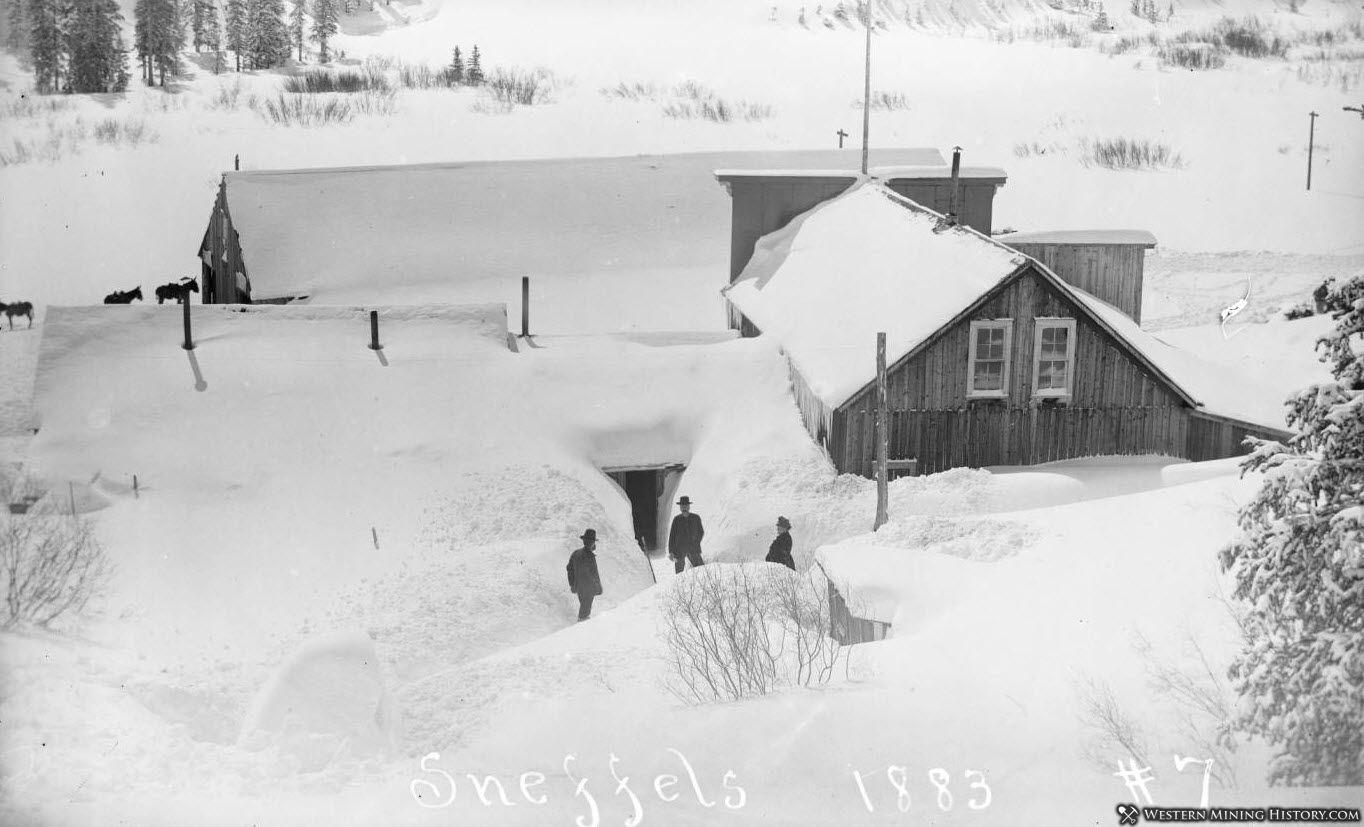 Deep snow in Sneffels Colorado 1883
